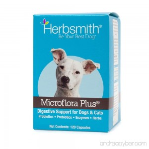 Herbsmith Microflora Plus – Dog Digestion Aid –Probiotics and Digestive Enzymes for Dogs – Prebiotic for Dogs - B009EUZ9LW