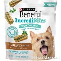 Purina Beneful IncrediBites Dental Minis Peanut Butter Flavor Dog Treats - (1) 7 oz. Pouch - B06XFH7XLK