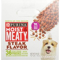 Purina Moist & Meaty Steak Flavor Adult Dry Dog Food - B0018CFNB0
