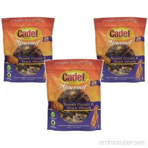 (3 Pack) Cadet Duck and Sweet Potato Dog Treat Wraps 28 Ounces each - B01LZG70AH
