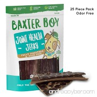 """Baxter Boy 6"""" Joint Health Beef Jerky Dog Treat Chews (25 Pack) – Gourmet Fresh and Tasty Beef Gullet Jerky - Naturally Rich in Glucosamine and Chondroitin - Promotes Healthy Joints and Tissue Growth - B07CQDCQJC"""