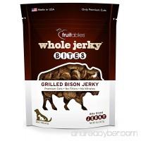 Fruitables Whole Jerky Bites Grilled Bison Dog Treats  5 oz - B01BBVQESI