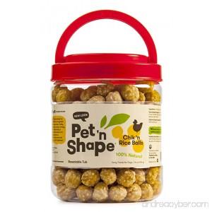 Pet 'n Shape Chik 'n Rice Balls Natural Dog Treats - B01LZ65S59