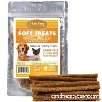 Raw Paws Pet Premium Soft Treats for Dogs & Cats  6-ounce - Chewy Jerky Sticks - Made in USA Only - Great for Training - Perfect Treats for Small Dogs - B01J6D7C02