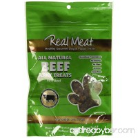 THE REAL MEAT COMPANY 828002 Dog Jerky Beef Treat 4-Ounce - B004UMKAUO