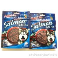Wild Alaskan Salmon Dog Treats - (2-Pack Jerky Treats) Made in USA - B07DN6RT52