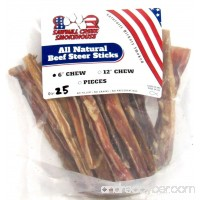 6 Beef Steer Bully Sticks Odorless Sourced & Made USA Natural USDA certified (25 Pack) - B01HQUSZPI