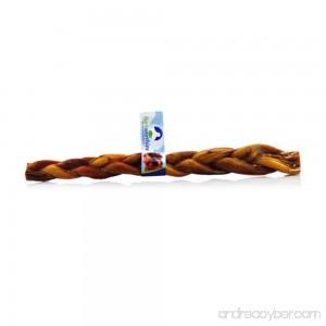 Braided Bully Sticks By Barkworthies - 100% Natural Beef Dog Treats - B006H33R22