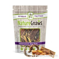 Nature Gnaws 100% Natural Dog Chews - Combo Pack - (4) Braided Bully Stick Bites  (4) Porky Pretzels & (4) Jerky Bites (12 total pieces) - Oven-Baked Chew Treats for Small Dogs & Light Chewers - B079JZ1WK2