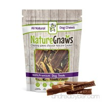 Nature Gnaws Beef Jerky Chews - 100% All-Natural Grass-Fed Free-Range Premium Beef Dog Chews - Promotes Healthy Joints & Ligaments - B0799YMJ1Q