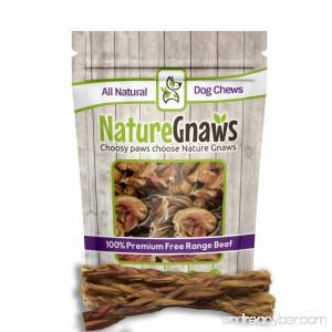 Nature Gnaws Braided Bully Sticks 11-12 inch - 100% Natural Grass-Fed Free-Range Premium Beef Dog Chews - B01LOXSL3E