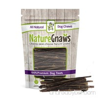 "Nature Gnaws Extra Thin Pork Bully Sticks 5-6"" (50 Pack) - 100% All-Natural Premium Dog Chews - For Small Breeds & Light Chewers - B075VFP2BK"