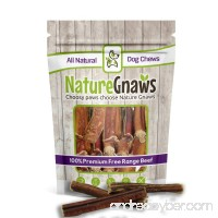 Nature Gnaws Jumbo XL Thick Bully Sticks (6 Pack) - 100% All Natural Grass-Fed Free-Range Premium Beef Dog Chews - Our Longest Lasting Bully Stick for Large Breeds & Aggressive Chewers - B06XB6XZWD