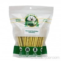 Rawhide Dog Treats for Small Dogs Made in the USA Only by Lucky Premium Treats - B01LZHP1WN