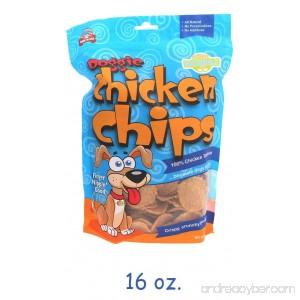 16 oz Doggie Chicken Chips - Stock Up & Save! Made in the USA 100% Chicken. - B00OTOKFDU