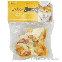 Chubby Chews Soft and Chewy Rawhide Treats with Real Chicken on Top 2-Inch Heart Shape 3-Ounce Bag - B007KIWZ30