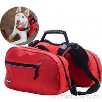 Adjustable Dog Backpack for Hiking Camping Travel Pack Outdoor Accessory Saddle L Size - B077CBBN8N