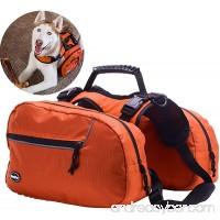 Dog Backpack Adjustable Saddlebag - Pack for Hiking Camping Travel Outdoor Orange Medium - B01AXEN7W0