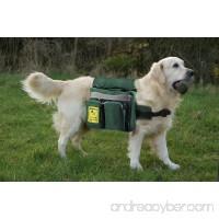 Dog BackPack BUNDLE Saddle Bag + 2 Foldable Dog Bowls 8in+ Dog Waste Bag Dispenser with Bags + Cover For Backpacks - B00THOIIMC