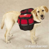 Dog Backpack Red Blue Large Medium Zippered Saddlebags (Medium Red) by Pet Store - B00QOIOB2A