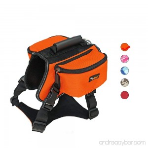 Dog Carried Backpack Hiking Travel Camping Outdoor Harness Backpack for Medium Large Dog - B07C4M49ST