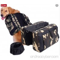 Dog Oxford Saddlebag for Hiking and Backpack for Middle and Large Size Dog - B0798DH37W