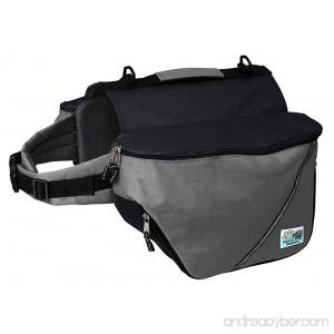 Doggles Dog Backpack Extreme XXS Gray/Black - B002XZL66C