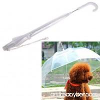 Infinal Pet Umbrella Transparent Waterproof Raincoat with Leash Puppy Dry in Rain - B01N0EM6TZ
