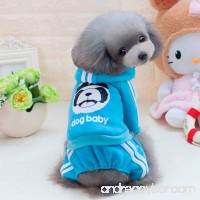 Puppy Thick Coat Lotus.flower Little Pet Dog Lovely Fleece Hoodie Clothing Autumn Winter Warm Clothes Costume - B075MH88MW