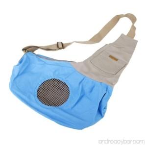 Tinksky Tiny Canvas Pet Dog Cat Carrier Sling Shoulder Bag Carrier Bag (Blue) - B0149SOK7M