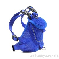 Wellbro Dog Backpack Harness Small Mesh Dog Vest with Pocket Soft Padded Pet Saddlebag Reflective and Adjustable For Walking Camping and Hiking - B01MYM1TX3
