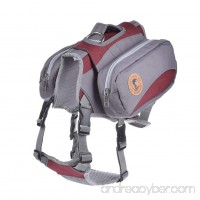 Yunt Pet Saddle Bag Backback Hiking Gear with Removable Bags for Middle Large Sized Dogs Traveling Hiking Camping - B075XNLF65