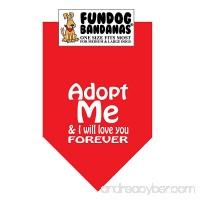 Adopt Me & I Will Love You Forever Dog Bandana - B00SHSH0UU