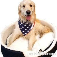 Downtown Pet Supply Premium Dog Pet Bandanas  Birthday  American USA Flag  Plad Scarfs for Dogs in Bulk Set - Great for Small and Large Pets - B07C86JG9L