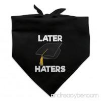 Later Haters Graduation Cap Dog Pet Bandana - Black - B07CYZLPXK