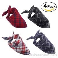 PAMIYO Dog Bandana [4 Piece] Cotton Washable Dog Bandana Triangle Bibs Scarfs Accessories Set for Dogs Cats Pets Animals - B07CDQVY13