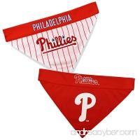 Pets First PHP-3217-L-XL MLB Philadelphia Phillies Reversible Pet Bandana Large/X-Large MLB Team Color - B078GMWG31