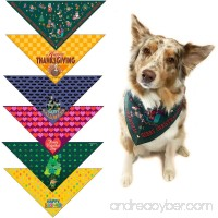 Stonehouse Collection Holiday Dog Bandana Med to Large Dogs - Set of 6 - Christmas  Halloween  Thanksgiving  Valentine's Day  St. Patricks Day  Easter- #2 - B07CCJYHYM