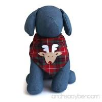 Tail Trends Christmas Dog Bandanas (Santa Claus  Snowman  Rudolph) Designer Appliques 100% Cotton - B01LZ30UWN