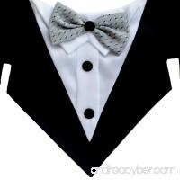 Tail Trends Formal Dog Tuxedo Dog Bandana with Bow Tie and Neck Tie Designs - B017WSXTKK