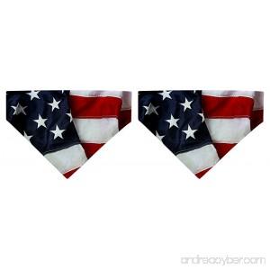 ThisWear Small Dog Bandana American Flag Dog Bandana Police K9 Dog USA Flag Small Dog Bandanas 2-Pack Scarves for Dogs Bibs - B076TK5YBR