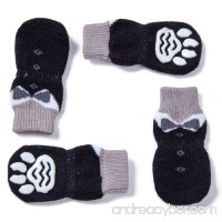 Luckymore 4 Pcs Anti-Slip Pet Dog Cat socks/Paw Protector/Traction Control for Indoor Wear Knitted Pet Dog Cat Socks Rubber Reinforcement - B07DN9KX9M