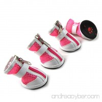 smalllee_lucky_store Girls Boys Zipper Front Breathable Rubber Sole Summer Mesh Dog Shoe - B073P6RSSB