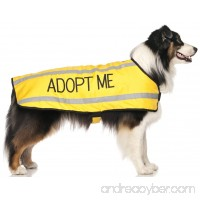 ADOPT ME Yellow Warm Dog Coats S-M M-L L-XL Waterproof Reflective Fleece Lined (New Home Needed) Donate To Your Local Charity - B00PDTMMFY