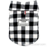 Beirui Windproof British Plaid Dog Vest Winter Coat - Dog Apparel Cold Weather Dogs Jacket for Puppy Small Medium Large dogs -Black and Red - B073S2F688
