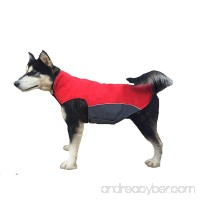 "Bonawen Autumn Winter Dog Coat Waterproof for Extra Large Dog with Leash Hole  Chest up to 39"" - B01LAVG3E4"