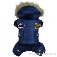 Fenta Winter Warm Small Dog Pet Waterproof Coat Padded Hoodie Jumpsuit Pants Apparel - B01LPZ0KDK
