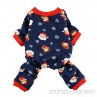 Fitwarm Christmas Santa Thermal Dog Pajamas Pet Clothse Fleece Coat Jumpsuit Blue - B01LY9LKJE