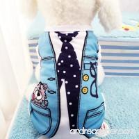 Iuhan Fashion Summer Pet Dog Clothes Puppy Dog Cat Vest Shirt Fake Strap - B07BGWSLGM