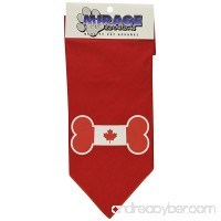 Mirage Pet Bone Flag Canadian Screen Print Dog Bandana - B00ARCKF1A